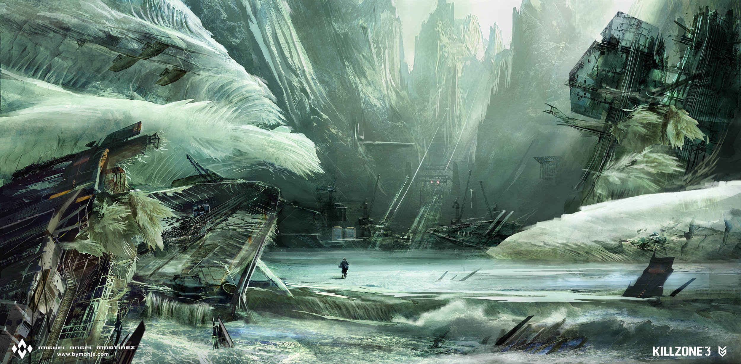 killzone-3-ice-wreck-concept-art-miguel-bymonje