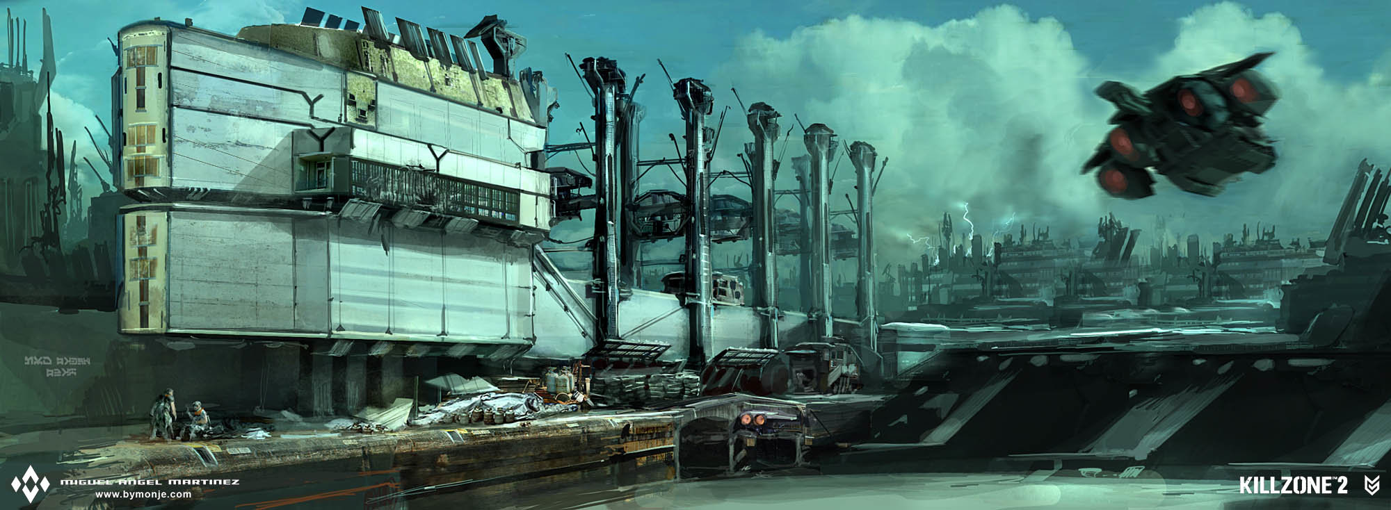 killzone 2 helghan station concept art miguel bymonje